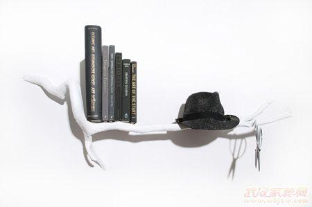 奇思妙想创意书架装扮时尚家卷簧机